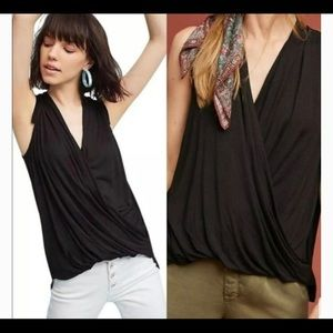 Anthropologie Wrapped Tank